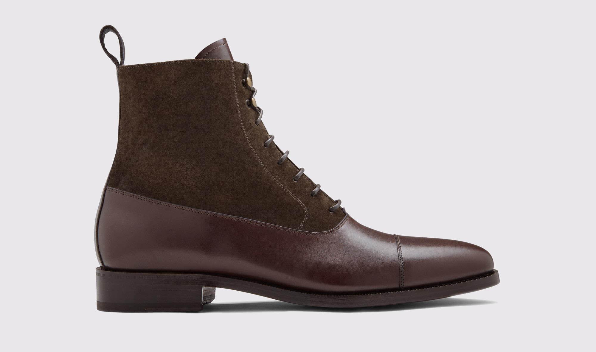 Men's Dark Brown Laced boots Nazzari | Scarosso