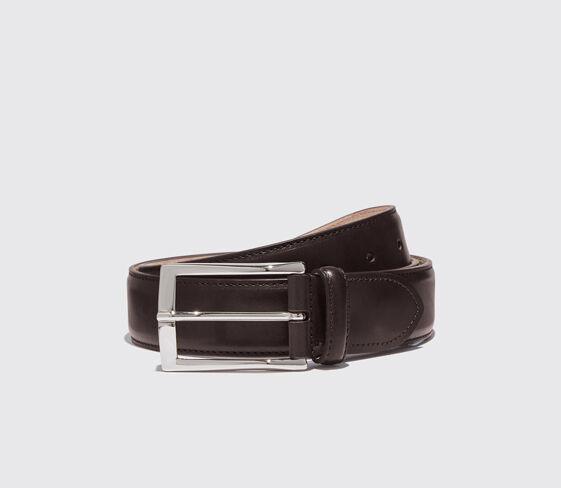 Scarosso Cintura Marrone Scuro Classica