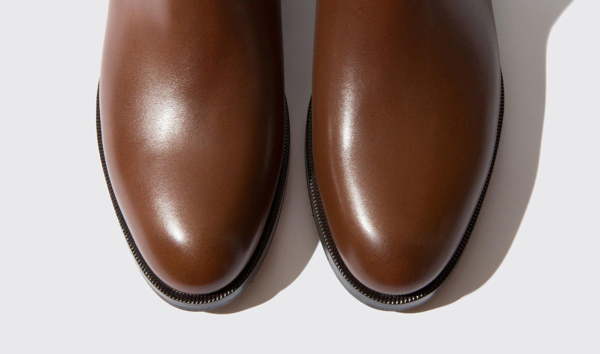 Women's Brown Boots Scarosso Elena Chelsea Dark wPRqzvxwU