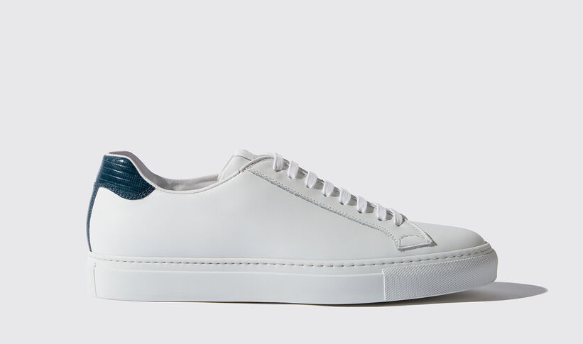 the best attitude 00625 1ead5 Sneaker Bianche Uomo - Pelle Lucertola Blu - Virginio | Scarosso