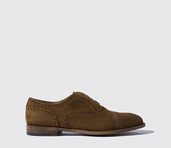 Scarosso Harrison Cigar Suede Light
