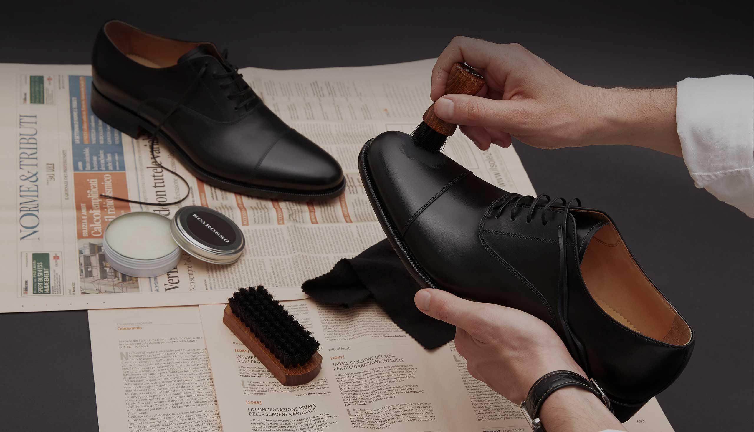 Men's Oxfords & Shoe Care